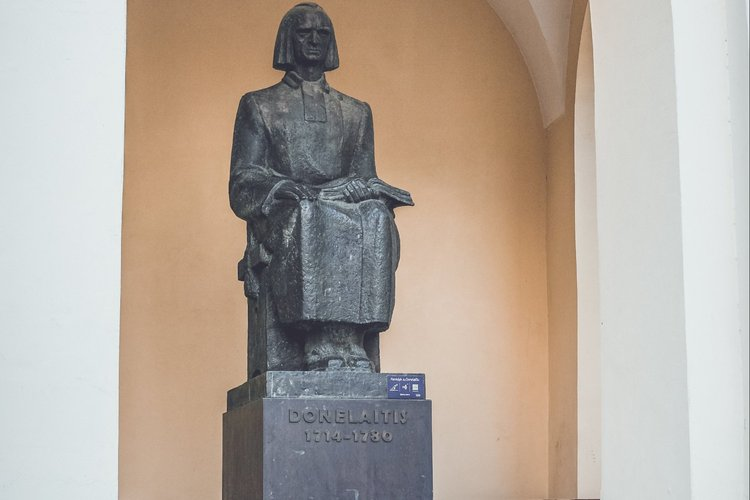 Sculpture of Kristijonas Donelaitis