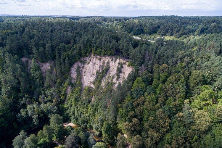 Геологическое обнажение Пучкоряй