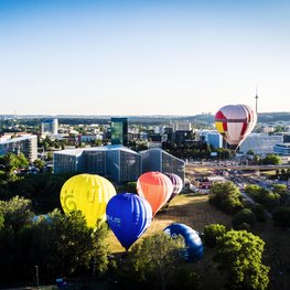 Hot-Air Ballooning over Vilnius Old Town