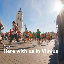 Here with us in Vilnius