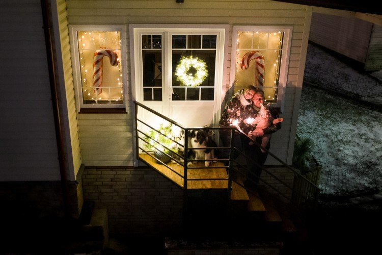 Kalėdinė vitrina mūsų kieme
