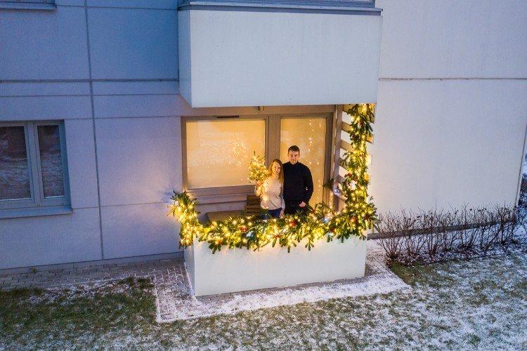Kalėdos balkone