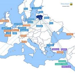 Vilnius Flight Map